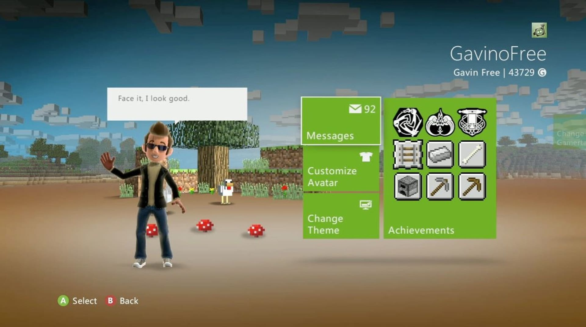 How to Unlock the Minecraft Xbox 360 Dashboard Theme