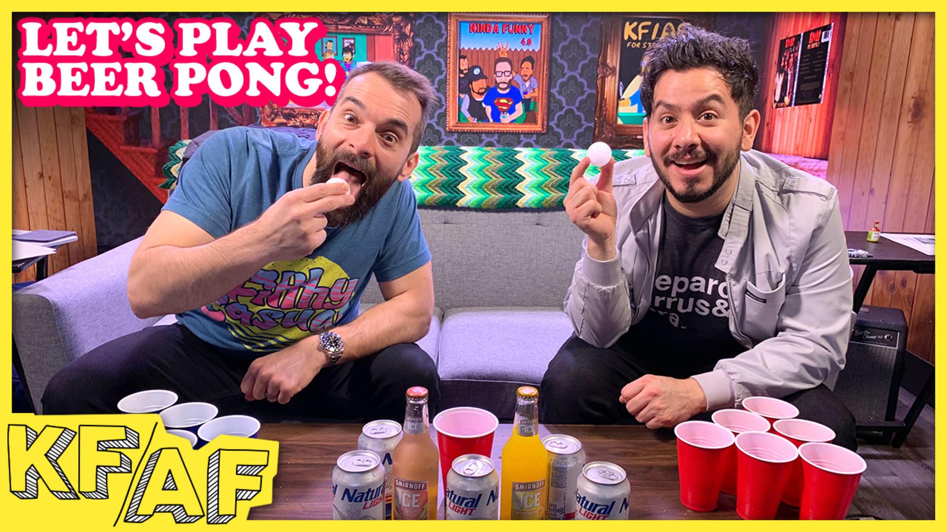 Beer Pong Challenge - KF/AF (Ep  13) - Rooster Teeth