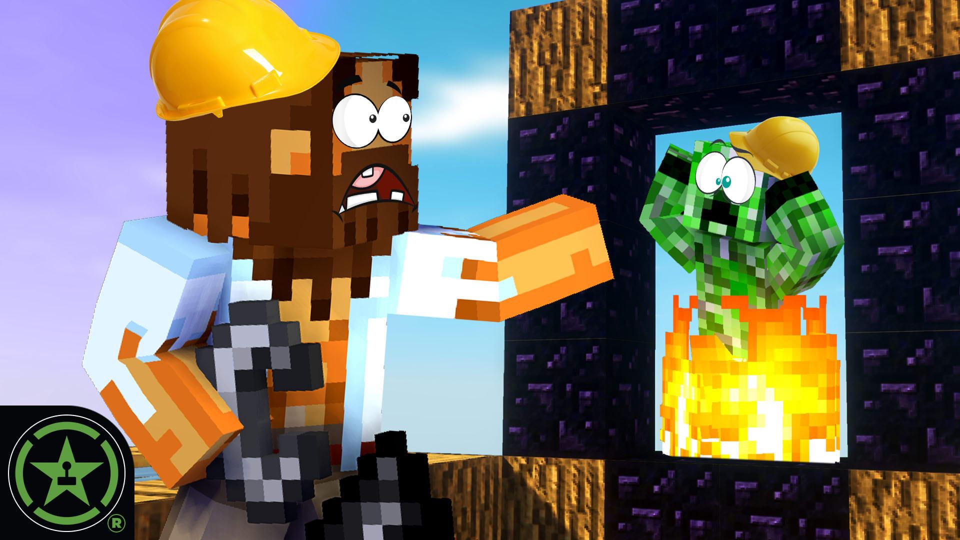 1edb5650b Worst Nether Portal - Minecraft - Sky Factory 4 (Part 2) - Rooster Teeth