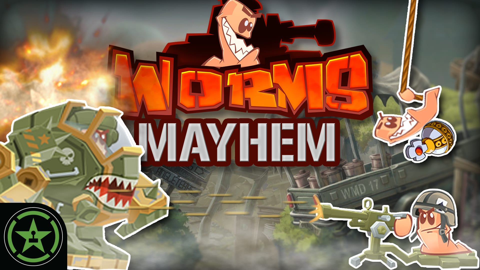 NO SCOPE BUNKER BUST - Worms W M D  - Worms MAYhem - Rooster