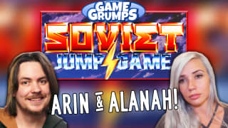 Arin Hanson Alanah Play Soviet Jump Game Rooster Teeth
